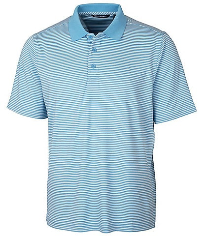 Cutter & Buck Forge Short-Sleeve Tonal-Stripe Polo Shirt