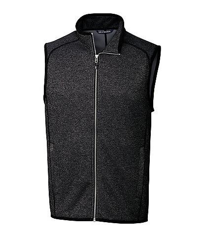 Cutter & Buck Mainsail Sleeveless Full-Zip Sweater-Knit Vest