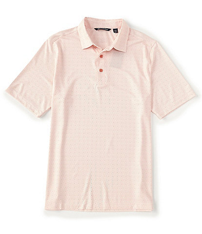 Cutter & Buck Pike Double Dot Print CB DryTec Short-Sleeve Polo