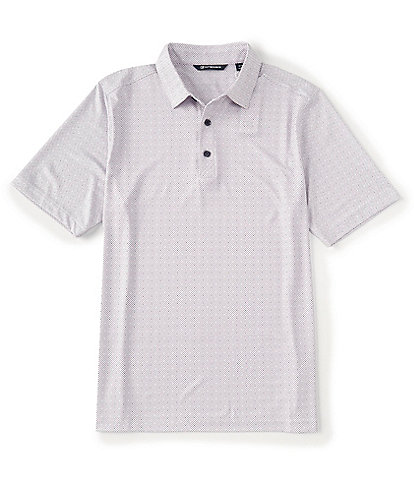 Cutter & Buck Pike Double Dot Print CB DryTec Short-Sleeve Polo
