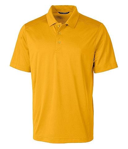 Cutter & Buck Prospect Short-Sleeve Jacquard-Textured Stretch Polo Shirt