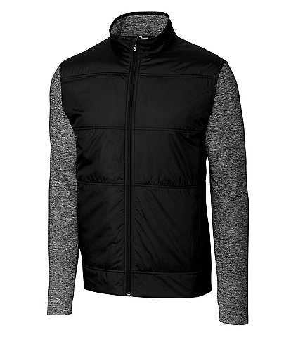 Cutter & Buck Stealth Hybrid Long-Sleeve Quilted Full-Zip Jacket