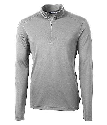 Cutter & Buck Virtue Eco Pique Long-Sleeve Quarter-Zip Pullover