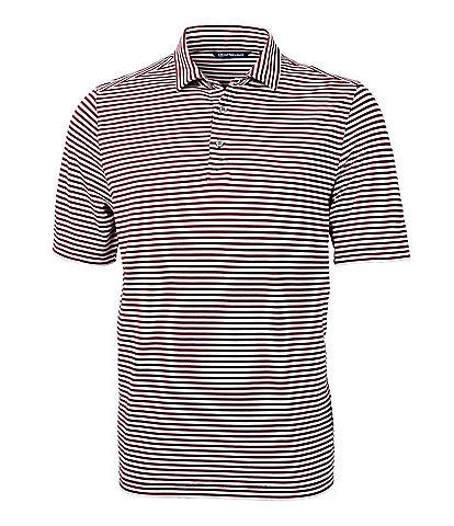 Cutter & Buck Virtue Eco Pique Short-Sleeve Striped Polo Shirt