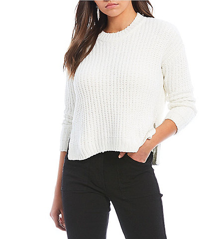 C&V Chelsea & Violet Chenille High-Low Sweater