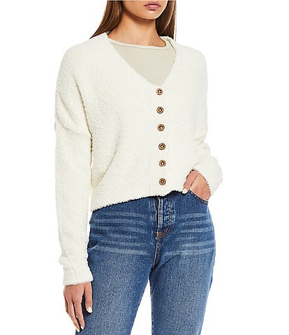 C&V Chelsea & Violet Cropped Cardigan Sweater
