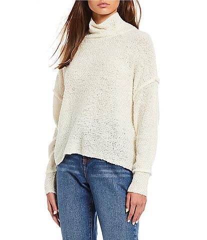 C&V Chelsea & Violet Drop Shoulder Turtleneck Sweater