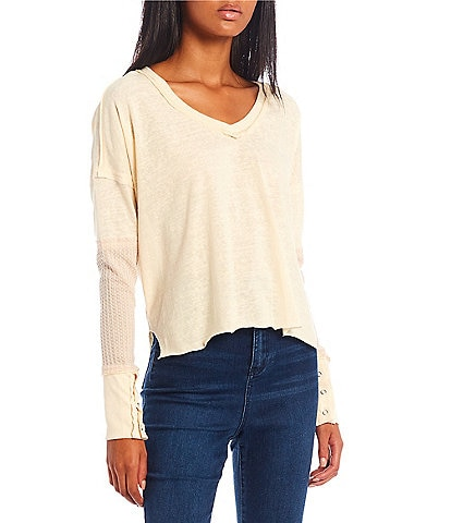 C&V Chelsea & Violet Long Sleeves Slouchy Knit Tee