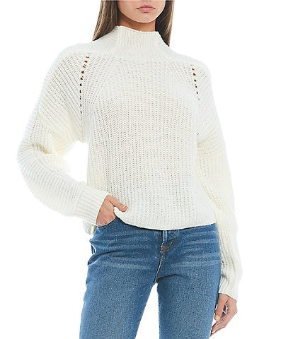 C&V Chelsea & Violet Mock Neck Boxy Sweater