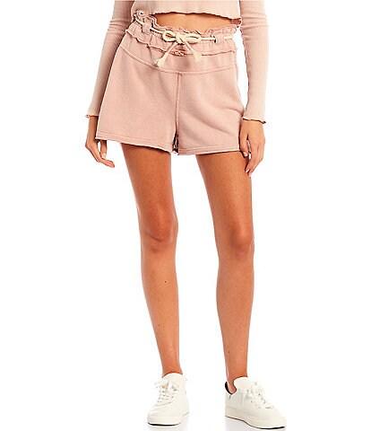 C&V Chelsea & Violet Paperbag Waist Knit Shorts