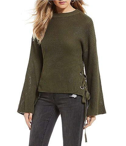 C&V Chelsea & Violet Side Lace-Up Sweater