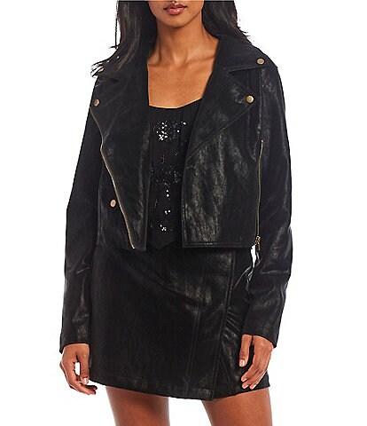 C&V Chelsea & Violet Suede Moto Jacket