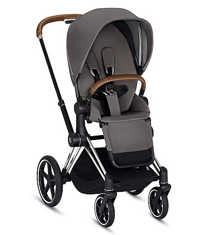 Cybex Chrome/Brown Priam 3 Compact Stroller