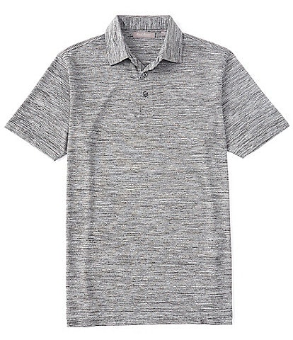 Daniel Cremieux Signature Jaspe Heather Short-Sleeve Polo Shirt
