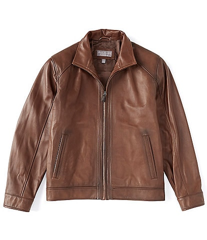 Daniel Cremieux Signature Lamb Lightweight Full-Zip Leather Coat