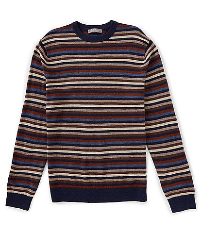Daniel Cremieux Signature Merino Wool Multi-Stripe Crew Sweater