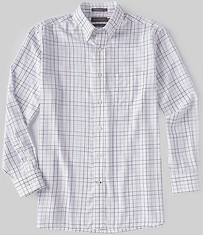Daniel Cremieux Signature Non-Iron Medium Plaid Long-Sleeve Woven Shirt