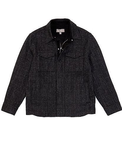 Daniel Cremieux Signature Plaid Alpaca Wool Blend Full-Zip Shirt Jacket