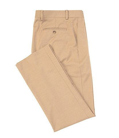 Daniel Cremieux Signature Solid Classic-Fit Flat-Front Dress Pants