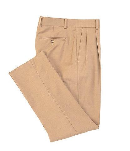 Daniel Cremieux Signature Solid Pleated Dress Pants