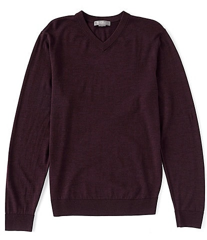 Daniel Cremieux Signature Solid V-Neck Wool Sweater