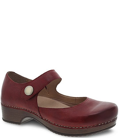 Dansko Beatrice Leather Block Heel Mary Janes