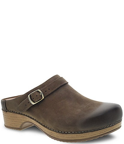 Dansko Berry Burnished Suede Clogs