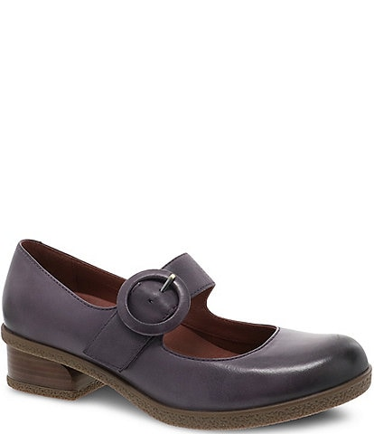 Dansko Brandy Waterproof Leather Mary Janes