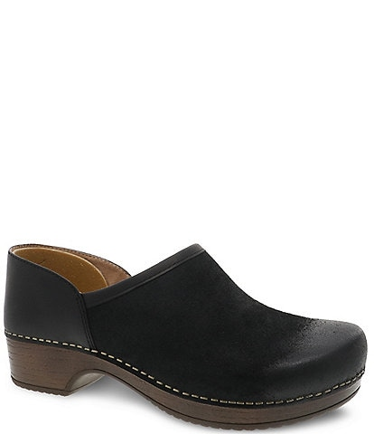 Dansko Brenna Burnished Suede Clogs