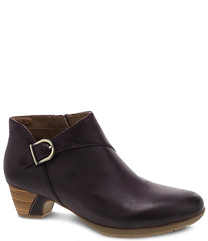 Dansko Darbie Leather Buckle Booties