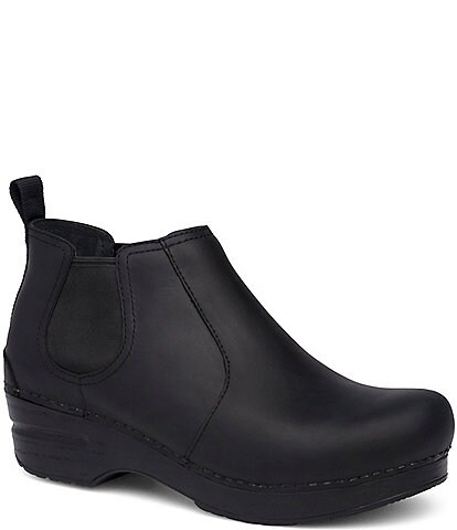 Dansko Frankie Black Oiled Ankle Booties