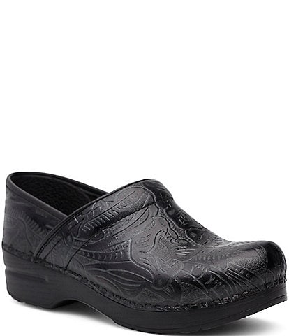 Dansko Professional Floral Embossed Tooled Clogs