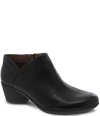 Dansko Raina Leather Block Heel Booties