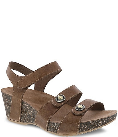 Dansko Savannah Banded Leather Wedge Sandals