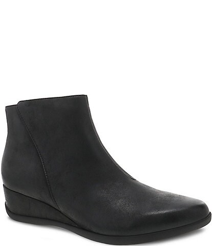 Dansko Serenity Waterproof Leather Wedge Booties