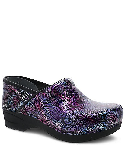 Dansko XP 2.0 Engraved Floral Patent Leather Clogs
