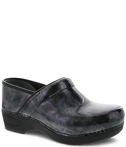 Dansko XP 2.0 Pewter Marble Patent Leather Clogs