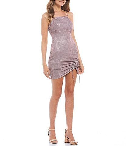 Dear Moon Sleeveless Glitter-Knit Sheath Dress