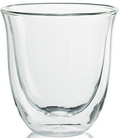 DeLonghi Set of 6 Double Wall Cappuccino Glasses