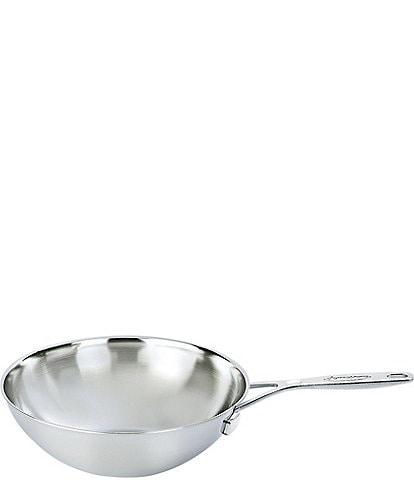 Demeyere Industry 5-Ply 5 QT Stainless Steel Flat Bottom Wok