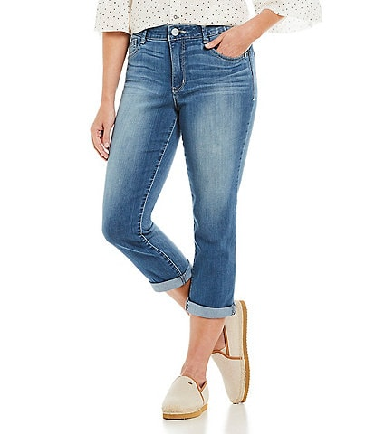 Democracy Luxe Touch Premium High Rise #double;Ab#double;solution Crop Jeans