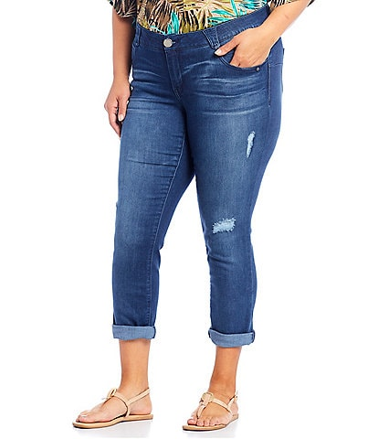 Democracy Plus Size Ab-solution Technology Ankle Skimmer Jeans