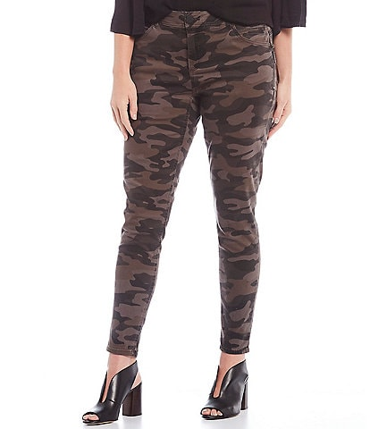 Democracy Plus Size #double;Ab#double;solution Camo Side Zip Jeggings