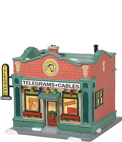 Department 56 A Christmas Story Hohman Telegraph Office Lit Building