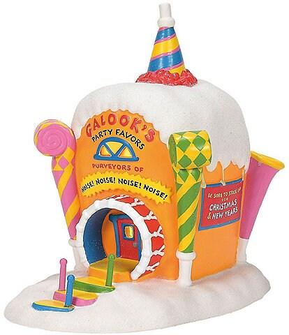 Department 56 Dr. Seuss, The Grinch Village Collection Who-Ville Galooks Party Favors Building Figurine