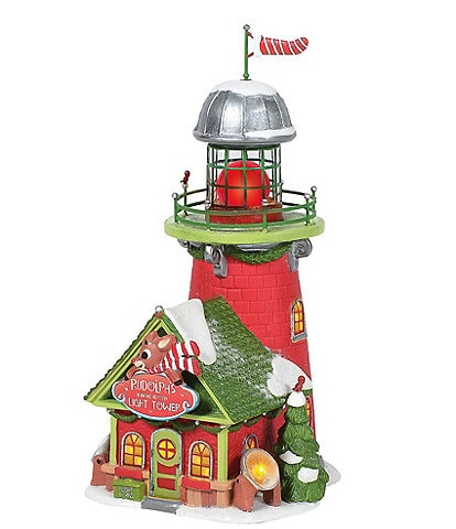 Department 56 North Pole Collection Rudolph's Blinking Beacon Light Tower