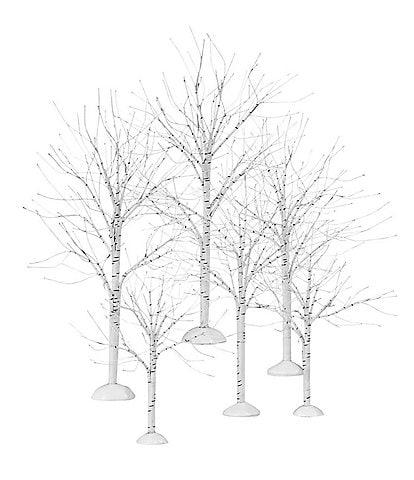Department 56 Winter Birch 6-Piece Tree Figurine Set