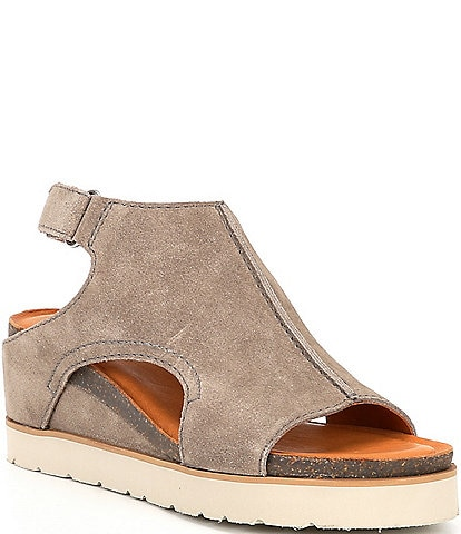 Diba True Get Along Suede Cut Out Wedge Sandals