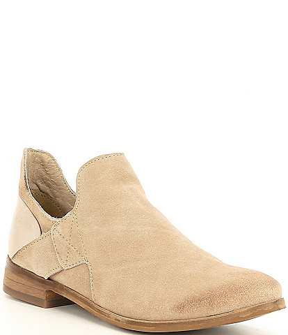 Diba True Make Up Suede Chelsea Block Heel Booties