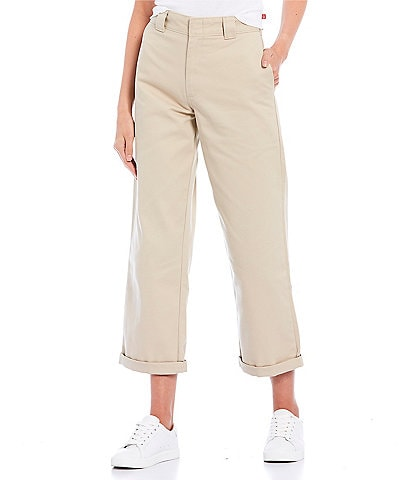 Dickies High Rise Rolled Hem Cropped Work Pants